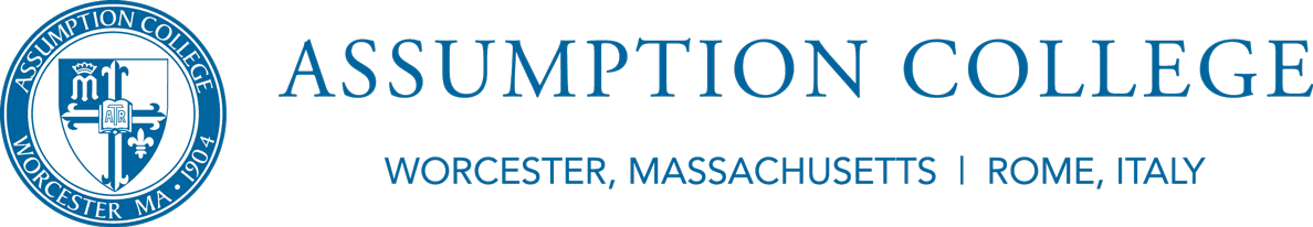 Assumption College logo in footer
